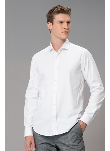 Lufian Bled Smart Gömlek Slim Fit  Beyaz